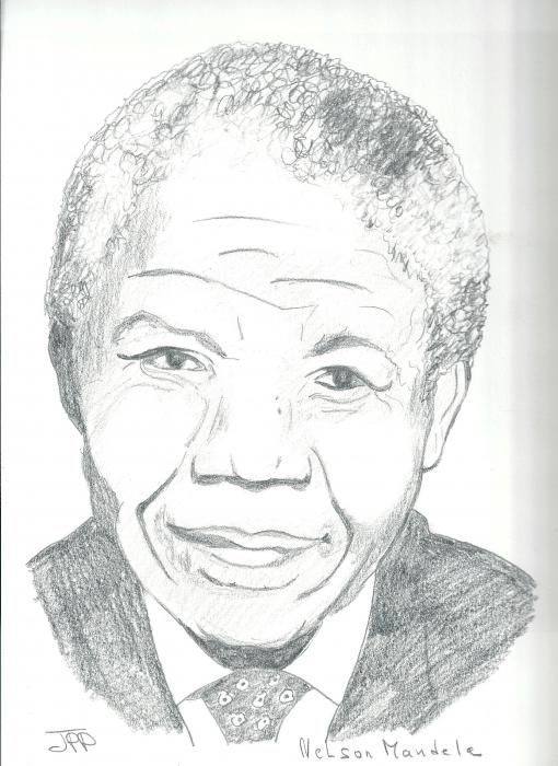 Nelson Mandela by Boiteadessins